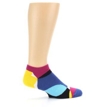 Image of Multi Overlapping Circles Men's Ankle Socks (side-1-24)