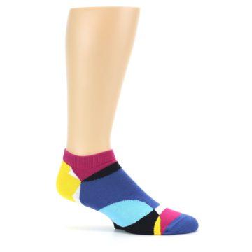 Image of Multi Overlapping Circles Men's Ankle Socks (side-1-25)