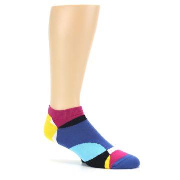 Image of Multi Overlapping Circles Men's Ankle Socks (side-1-26)
