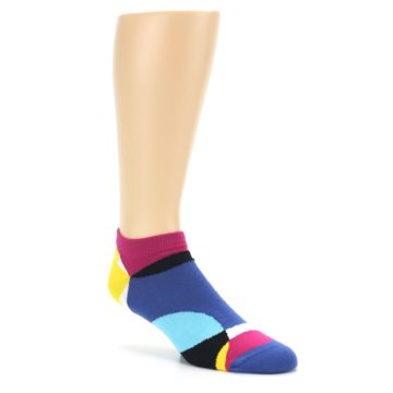 Image of Multi Overlapping Circles Men's Ankle Socks (side-1-27)