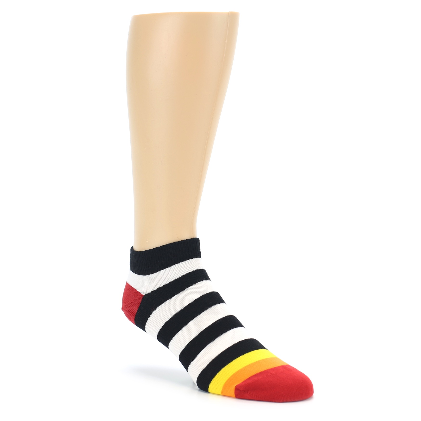 black white stripe mens ankle socks boldsocks