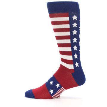 Image of Red Blue American Flag Men's Dress Socks (side-2-12)