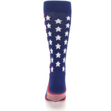 Image of Red Blue American Flag Men's Dress Socks (back-18)