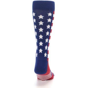 Image of Red Blue American Flag Men's Dress Socks (back-19)