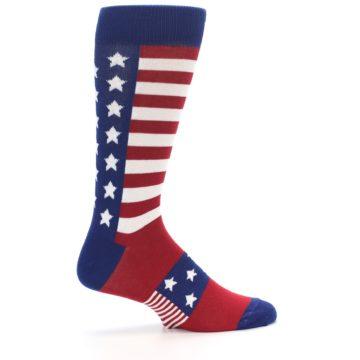 Image of Red Blue American Flag Men's Dress Socks (side-1-24)