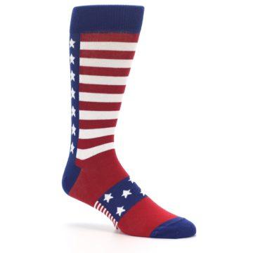 Image of Red Blue American Flag Men's Dress Socks (side-1-26)