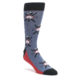 Image of Blue Red Skiing Men's Dress Socks (side-1-front-01)
