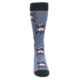 Image of Blue Red Skiing Men's Dress Socks (front-04)