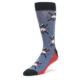 Image of Blue Red Skiing Men's Dress Socks (side-2-front-08)