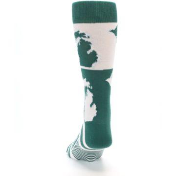 Image of Green White Michigan Men's Dress Socks (back-17)