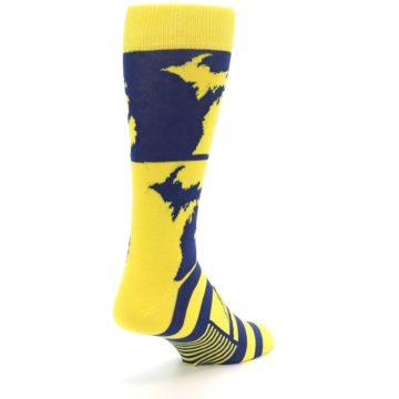 Image of Yellow Blue Michigan Men's Dress Socks (side-1-back-21)