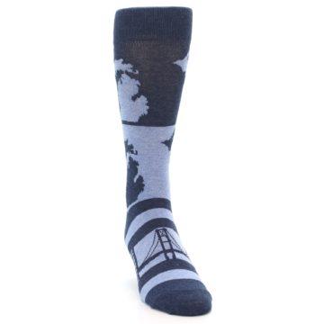 Image of Blue Michigan Men's Dress Socks (side-1-front-03)