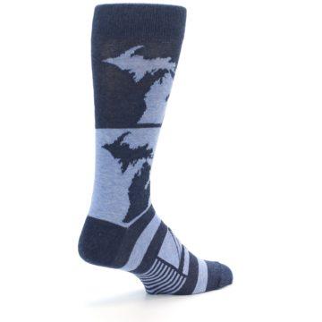 Image of Blue Michigan Men's Dress Socks (side-1-back-22)