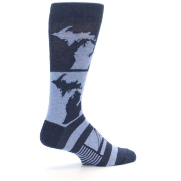 Image of Blue Michigan Men's Dress Socks (side-1-23)