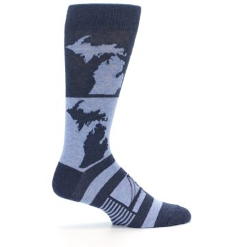 Image of Blue Michigan Men's Dress Socks (side-1-24)