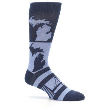 Image of Blue Michigan Men's Dress Socks (side-1-25)