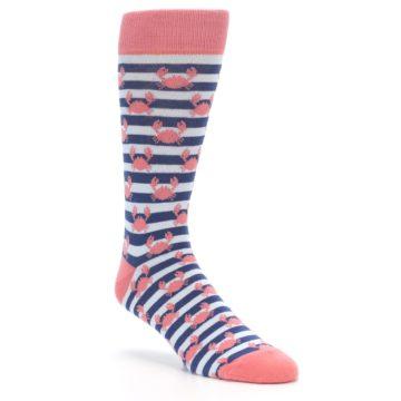 Blue Coral Crab Wedding Socks