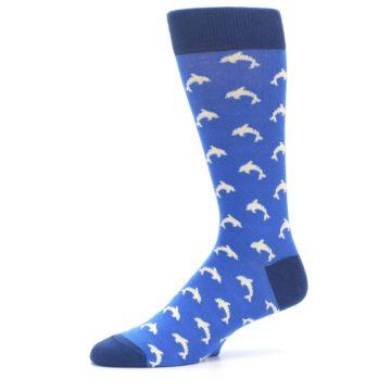 Image of Blue Dolphins Men's Dress Socks (side-2-10)
