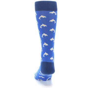 Image of Blue Dolphins Men's Dress Socks (back-17)
