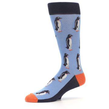Image of Blue Orange Penguin Men's Dress Socks (side-2-10)