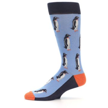Image of Blue Orange Penguin Men's Dress Socks (side-2-11)