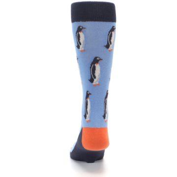 Image of Blue Orange Penguin Men's Dress Socks (back-17)
