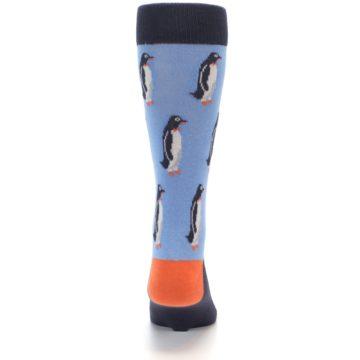 Image of Blue Orange Penguin Men's Dress Socks (back-18)