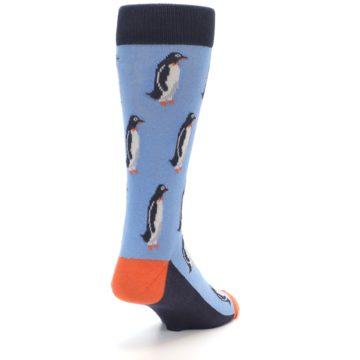 Image of Blue Orange Penguin Men's Dress Socks (side-1-back-20)