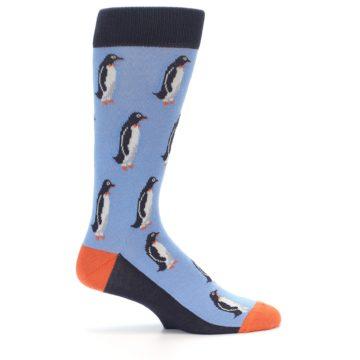 Image of Blue Orange Penguin Men's Dress Socks (side-1-24)