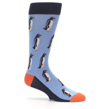 Image of Blue Orange Penguin Men's Dress Socks (side-1-25)