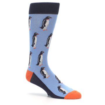 Image of Blue Orange Penguin Men's Dress Socks (side-1-26)