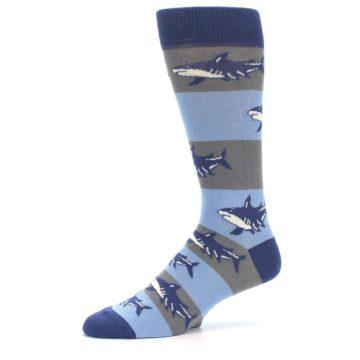 Image of Blue Grey Sharks Men's Dress Socks (side-2-10)