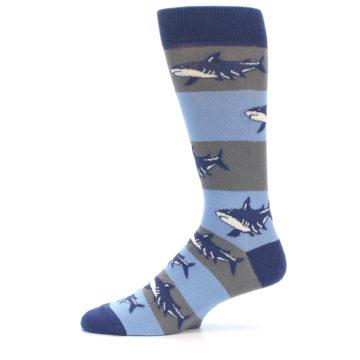 Image of Blue Grey Sharks Men's Dress Socks (side-2-11)