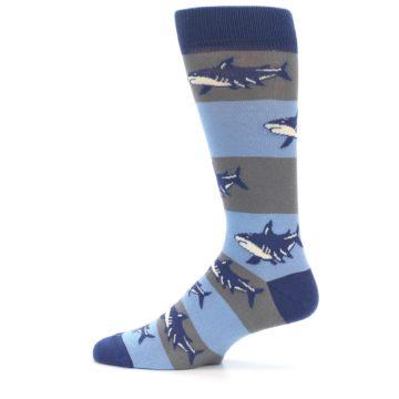 Image of Blue Grey Sharks Men's Dress Socks (side-2-12)