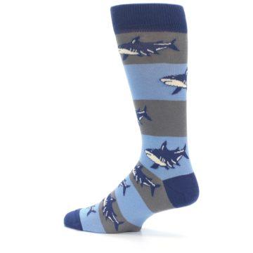 Image of Blue Grey Sharks Men's Dress Socks (side-2-13)