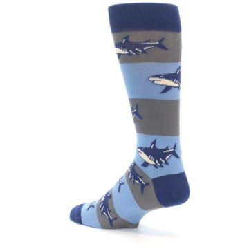 Image of Blue Grey Sharks Men's Dress Socks (side-2-back-14)