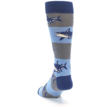 Image of Blue Grey Sharks Men's Dress Socks (side-2-back-16)