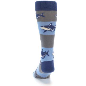Image of Blue Grey Sharks Men's Dress Socks (back-17)