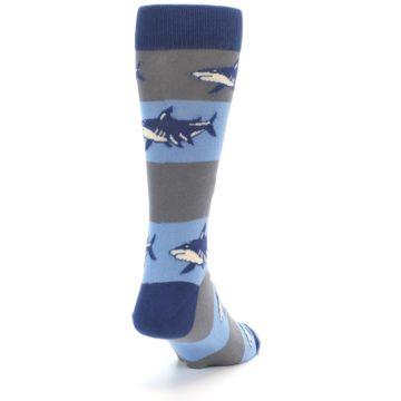 Image of Blue Grey Sharks Men's Dress Socks (side-1-back-20)