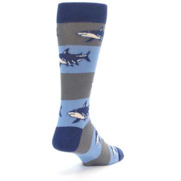 Image of Blue Grey Sharks Men's Dress Socks (side-1-back-21)