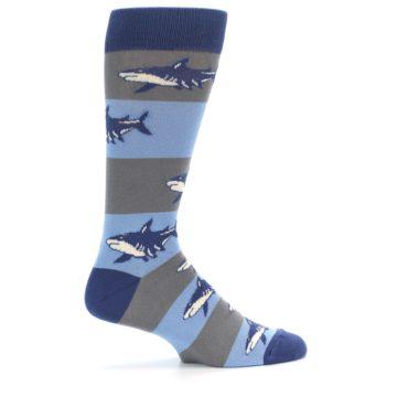 Image of Blue Grey Sharks Men's Dress Socks (side-1-24)