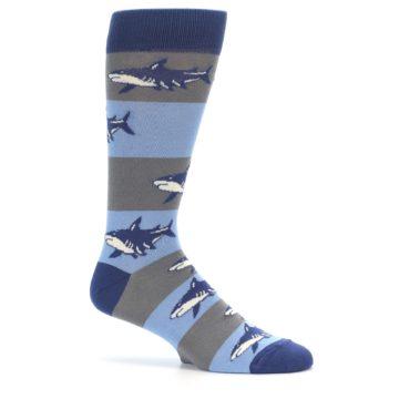 Image of Blue Grey Sharks Men's Dress Socks (side-1-25)