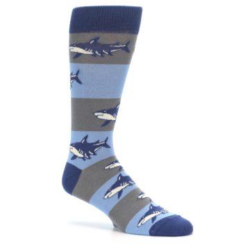 Image of Blue Grey Sharks Men's Dress Socks (side-1-26)