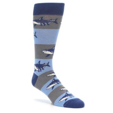 Image of Blue Grey Sharks Men's Dress Socks (side-1-27)