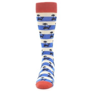 Image of Blue White Whales Men's Dress Socks (front-05)