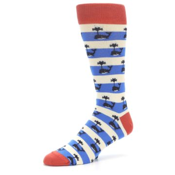 Image of Blue White Whales Men's Dress Socks (side-2-09)