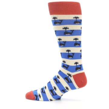 Image of Blue White Whales Men's Dress Socks (side-2-12)