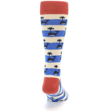Image of Blue White Whales Men's Dress Socks (back-19)