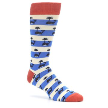 Image of Blue White Whales Men's Dress Socks (side-1-26)