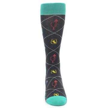 Image of Multi-Color Cocktail Men's Dress Socks (front-04)